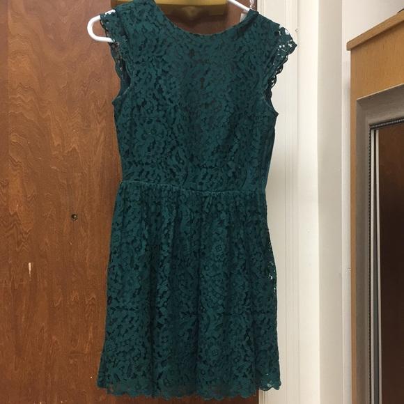 046f46255e677 Divided Dresses | Lace Winter Green Dress | Poshmark